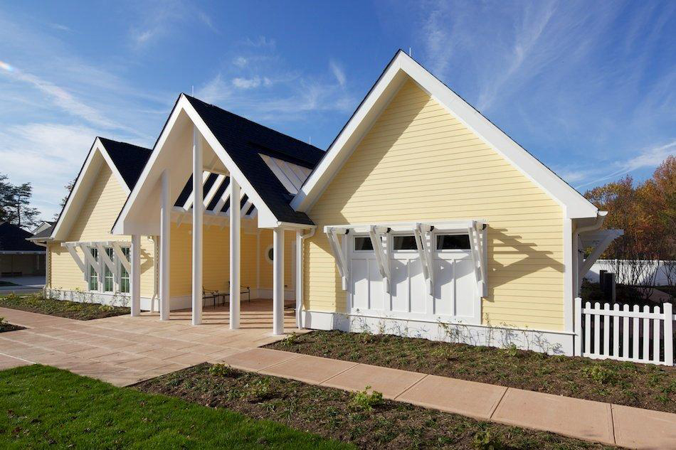 image of yellow clark home built for ft belvoir wounded warriors - Universal Design Homes