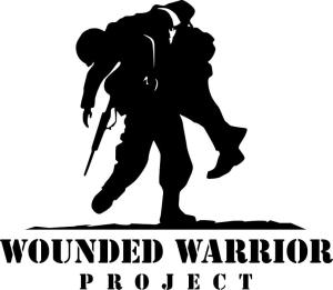 image of soldier carrying another with text woudned warrior project